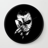 joker Wall Clocks featuring Joker by NickHarriganArtwork