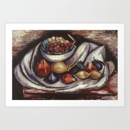 Still Life with Compote and Fruit by Marsden Hartley Art Print