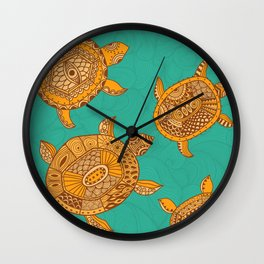 Tropical Sea Turtles Wall Clock