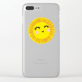 Sunny side up Clear iPhone Case