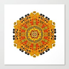 Patterned Sun Canvas Print