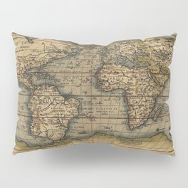 Antique Map of North and South America Pillow Sham