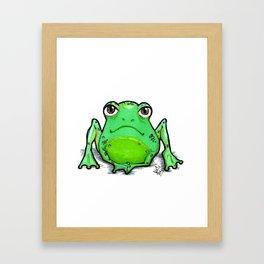 Cute Critters - Froggy Framed Art Print