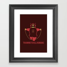 Training to  kill humans Framed Art Print