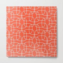 Square Pattern Flame Metal Print