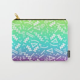 Retro 80's 90's Neon Rainbow Sketched Doodle Carry-All Pouch