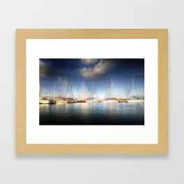 Howth Harbour in Dublin, Ireland Framed Art Print