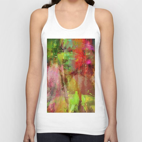 The girl of the road 77 Unisex Tank Top