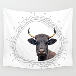 Yellow Horns Wall Tapestry
