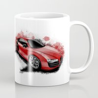 audi Mugs featuring R8 V10 by an.artwrok