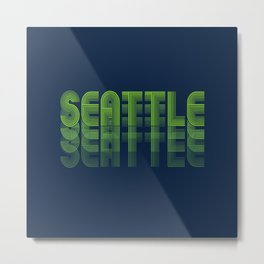 Seasons K Designs Seattle Fade Metal Print