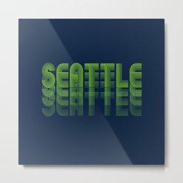 Seasons K Designs Seattle Fade Metal Print