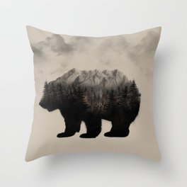 WHEN NATURE TALKS Throw Pillow