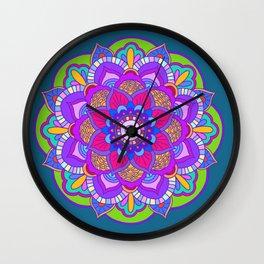 Colourful mandala Wall Clock