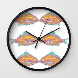 fish tropical beach coastal  Wall Clock