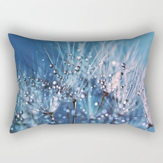 Dew on dandelions Rectangular Pillow