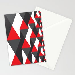 Geometric Pattern #20 (red triangles) Stationery Cards