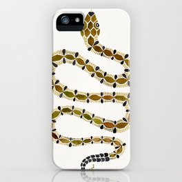 Olive Serpent iPhone Case