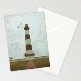 Bodie Lighthouse Glass Plate Effects Coastal Landscape Photograph Stationery Cards