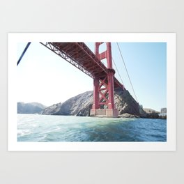 Summer in California - Golden Gate Bridge  Art Print