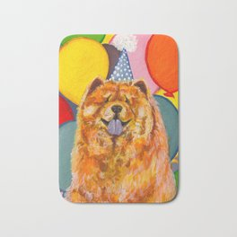 Chow Chow with Balloons Bath Mat