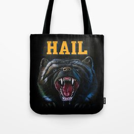 Hail Michigan Wolverine4 Mascot Tote Bag