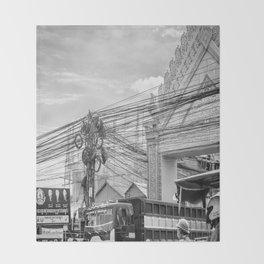 Phnom Penh Wired, Cambodia Throw Blanket