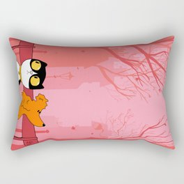 Thoughtful Dharma & Maya Rectangular Pillow