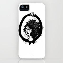femme à lunettes. iPhone Case
