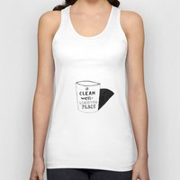 hemingway Tank Tops featuring Hemingway_A Clean Well-Lighted Place by StudioSotron