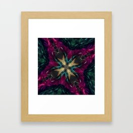 Girls Night Out Feather Boa Kaleidoscope Framed Art Print