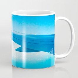 Travel vacation flying over bora bora Coffee Mug