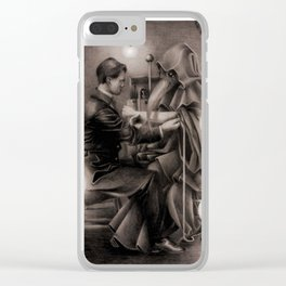 Plague Doctor Clear iPhone Case