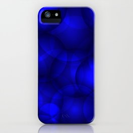 Glowing blue soap circles and volume sea bubbles of air and water. iPhone Case