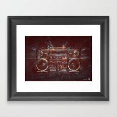 DARK RADIO Framed Art Print