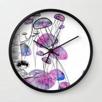 swim Wall Clocks featuring swim by serenita