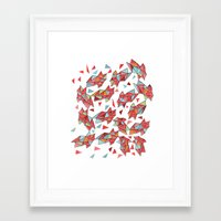 triangles Framed Art Prints featuring triangles by Matthew Taylor Wilson
