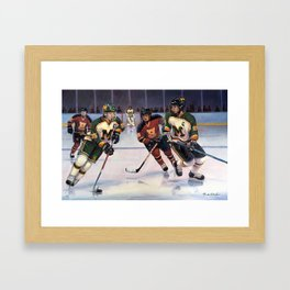 Lucas and Nick Esposito: Montgomery Cougars vs. Hillsborough Raiders Framed Art Print