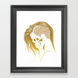 Skull Girls 2 - Royal Gold Framed Art Print