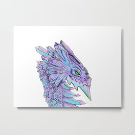 Crystal dragon Metal Print