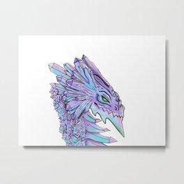 Crystal dragon Metal Print