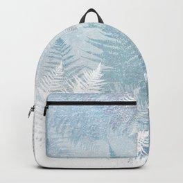 Fern Snowflakes - Taupe, Aqua & Blues Backpack