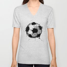 Grunge football ball Unisex V-Neck
