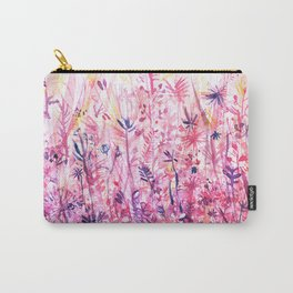 watercolor pink grass Carry-All Pouch