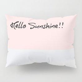 Hello Sunshine LA Print, Pastel Palette, Blush Pillow Sham