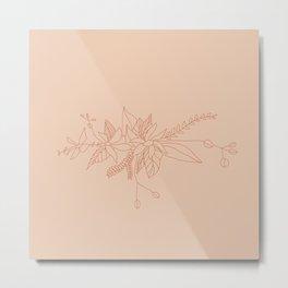 rosy mantle Metal Print