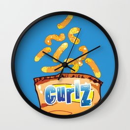 Cheese Curls : Junkies Collection Wall Clock