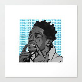 The good singer Canvas Print