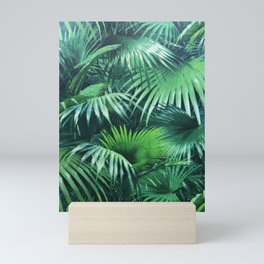 Tropical Botanic Jungle Garden Palm Leaf Green Mini Art Print