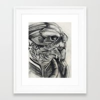 garrus Framed Art Prints featuring Garrus  by VWelch78